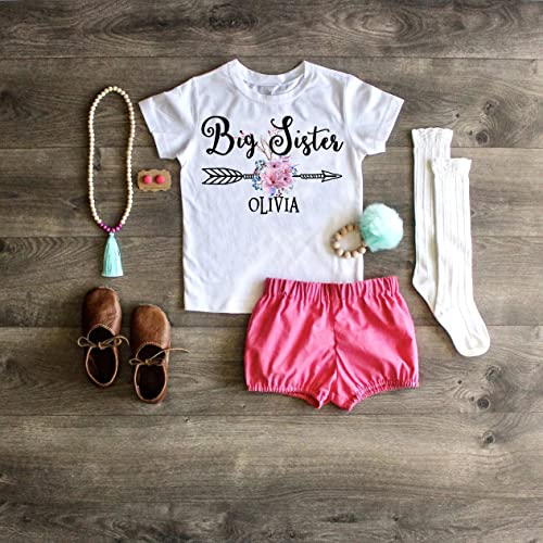 86557094f Big Sister Shirt Little Sister ONESIE® Personalized Shirt Big Sister Outfit  Little Sister ONESIE® Pregnancy Announcement Big Sister Top Little Sister  Outfit ...