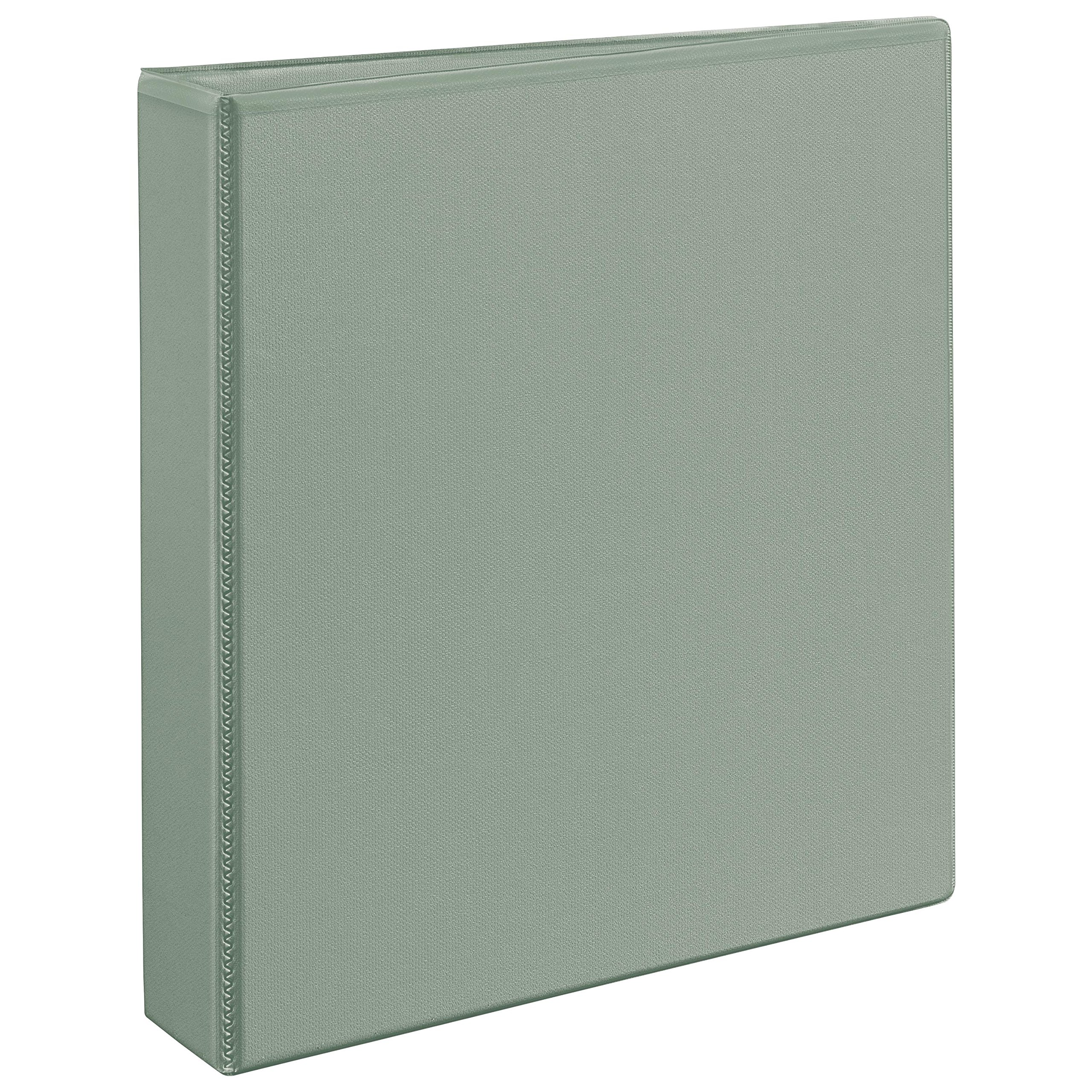 Avery Heavy-Duty Nonstick View Binder, 1-1/2'' One Touch Slant Rings, 375-Sheet Capacity, DuraHinge, Shadow Gray (05403)