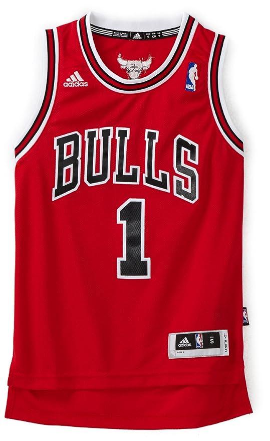 feff2e70b35804 Amazon.com   NBA Chicago Bulls Derrick Rose Swingman Road Youth Jersey