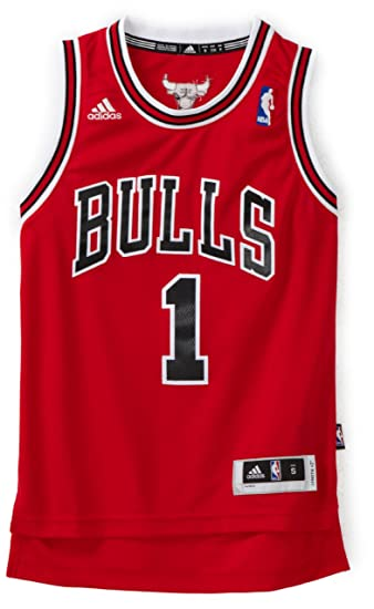 54dd896a997 Buy NBA Chicago Bulls Derrick Rose Swingman Road Youth Jersey, Red, Medium  Online at Low Prices in India - Amazon.in