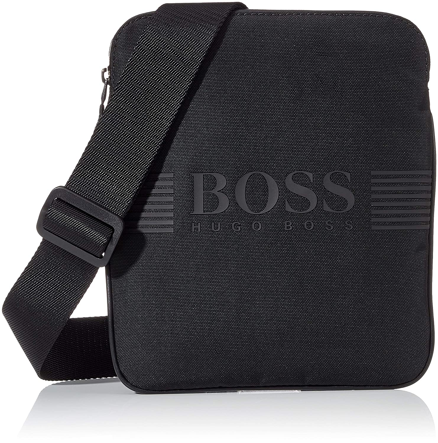 BOSS Green Pixel Homme Cross Body Bag Noir BOSS Green Pixel_s Zip Env Sacs portés épaule homme Schwarz (Black) 19.5x23.5x1 cm (B x H T)