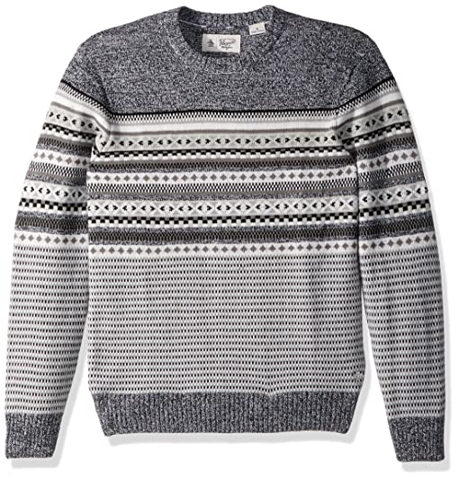 Amazon.com: Original Penguin Men's Engineered Fairisle Crew ...