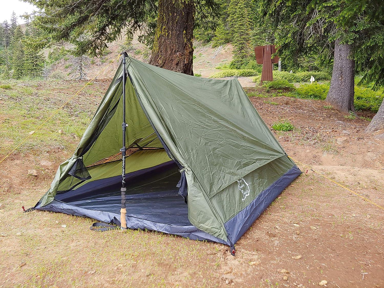 川国製品2人トレッキングポールバックパッキングテント、Trekkerテント2.2
