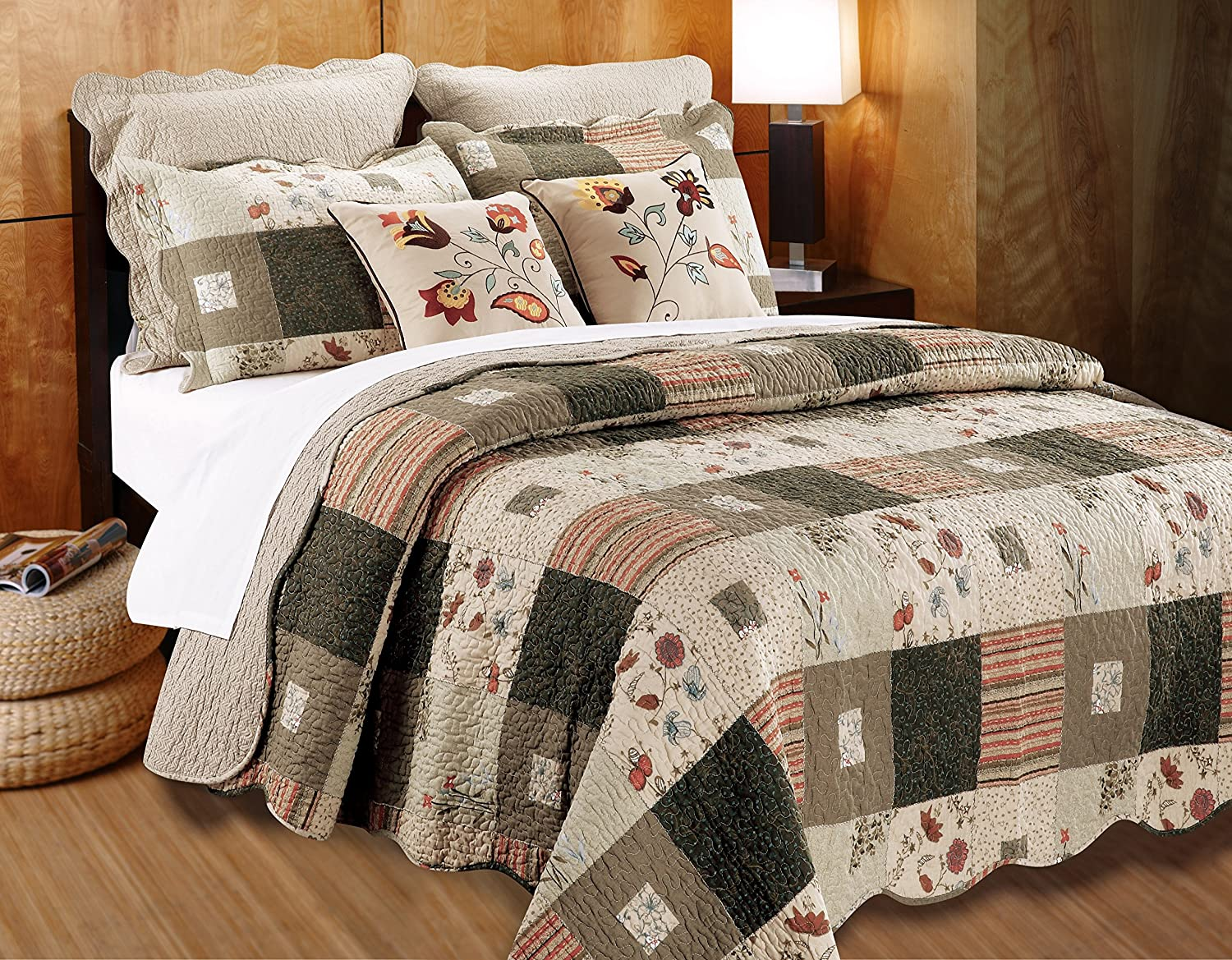 Greenland Home 5 Piece Sedona Bonus Quilt Set, Full/Queen