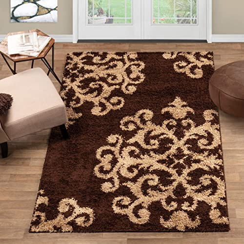 Blue Nile Mills Tufted Shag Formal Traditional Plush Indoor Rug Collection
