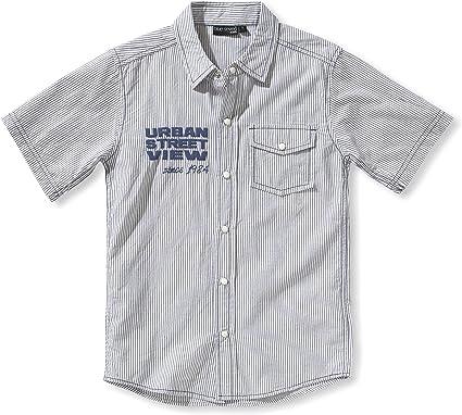 blue seven - Camisa con Cuello Mao sin Mangas para niño ...