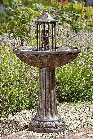 XL 83 Solar Wasser Spiel Garten Brunnen Deko Springbrunnen ...