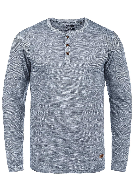 !Solid Migos Herren Longsleeve Langarmshirt Shirt Mit Grandad-Ausschnitt Aus 100% Baumwolle