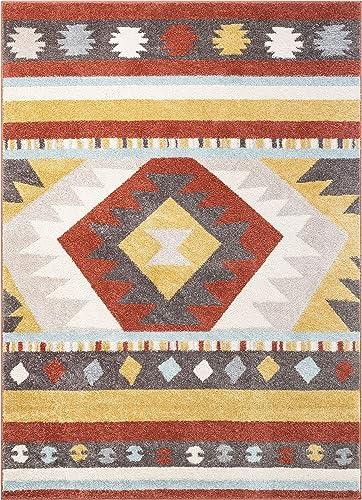 Well Woven Medallion Southwestern Terracotta Geometric Area Rug 5×7 5'3″ x 7'3″