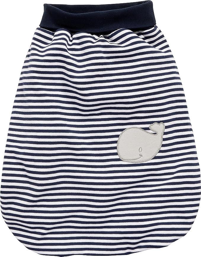Schnizler Unisex Baby Schlafsack Strampelsack Wal Interlock mit elastischem Umsc