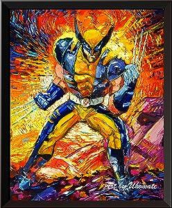 Uhomate Superhero X-Man Wolverine Wall Decor Vincent Van Gogh Starry Night Posters Home Canvas Wall Art Print Baby Gift Nursery Decor Living Room Wall Decor A077 (8X10)