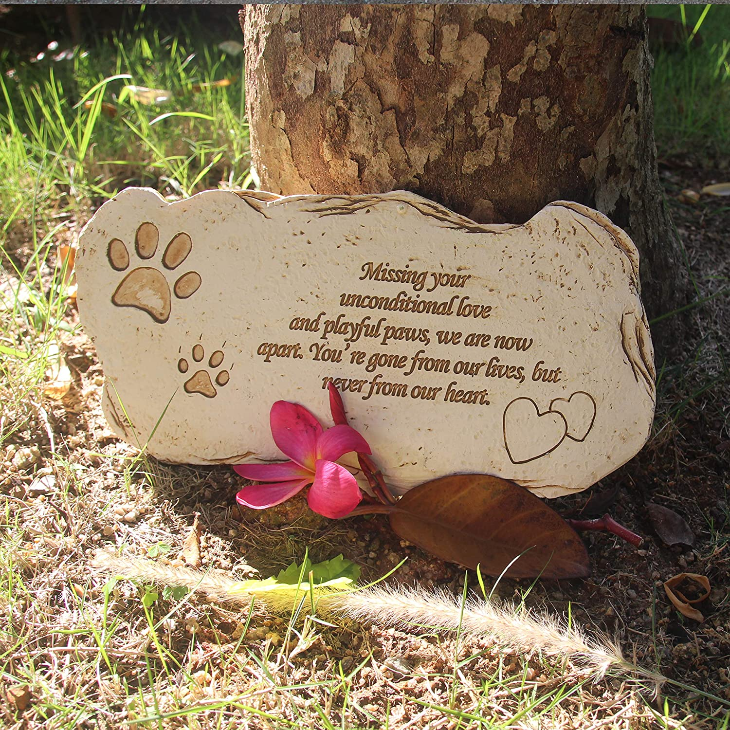 Amazon.com : Hardcrafts Personalized Pet Memorial Stone with ...