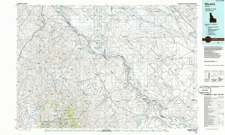 Amazon.com : Murphy ID topo map, 1:100000 scale, 30 X 60 Minute ...
