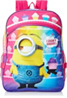 Despicable Me Girls' Purple 16 Inch Backpack with Detachable Lunch Bag
