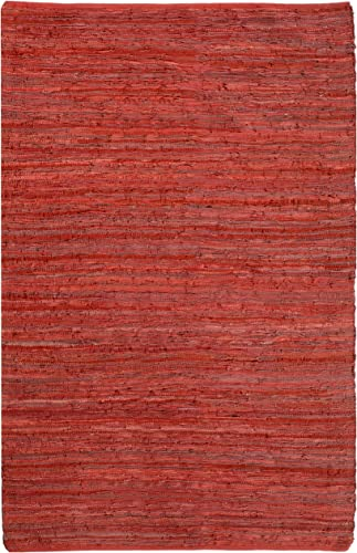 Red Leather Matador 4 x6 Rug