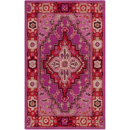 Safavieh Bellagio Collection BLG545B Red and Pink Bohemian Medallion Area Rug 2 6 x 4