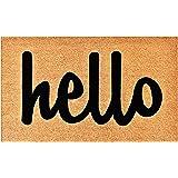 """Calloway Mills 100341729NBS Script Hello Doormat Natural/Black, 17"""" x 29"""""""
