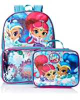 Nickelodeon Girls' Shimmer and Shine Backpack with Lunch Window Pocket