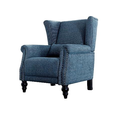 Amazon.com: Top Space Accent silla mueble, tela Club brazo ...