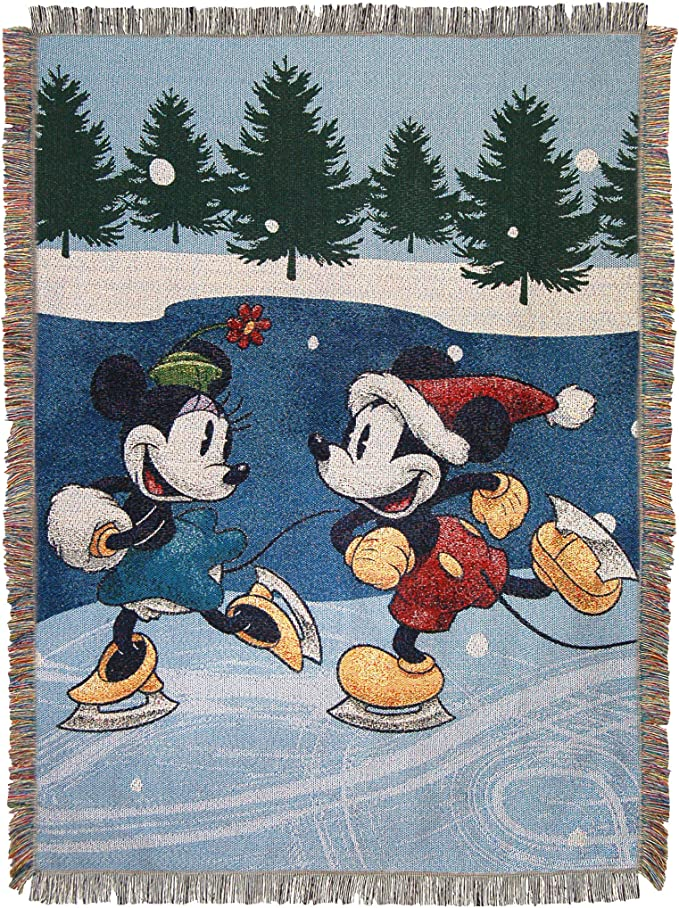 Details about  /Disney Minnie Mouse Sweater No Sew Throw Fleece Blanket DIY Christmas Holiday