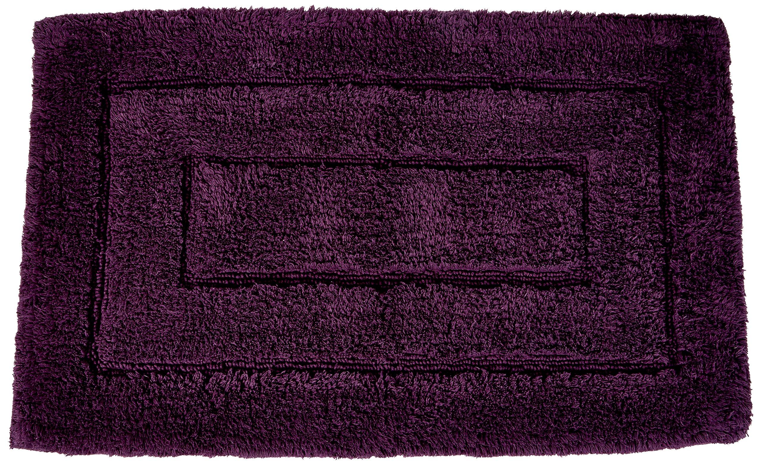 Kassatex 100-Percent Egyptian Cotton Kassa Design Bath Rug, 20 by 32-Inch, Plum