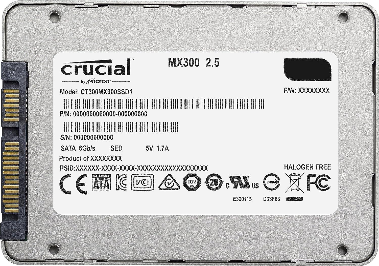 Crucial MX300 CT275MX300SSD1 - Disco Duro sólido Interno SSD de 275 GB (3D NAND, SATA, 2.5 Pulgadas): Amazon.es: Informática