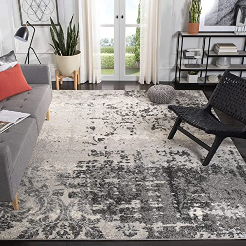 Safavieh Retro Collection RET2139-7980 Modern Abstract Light Grey and Grey Square Area Rug 6' Square