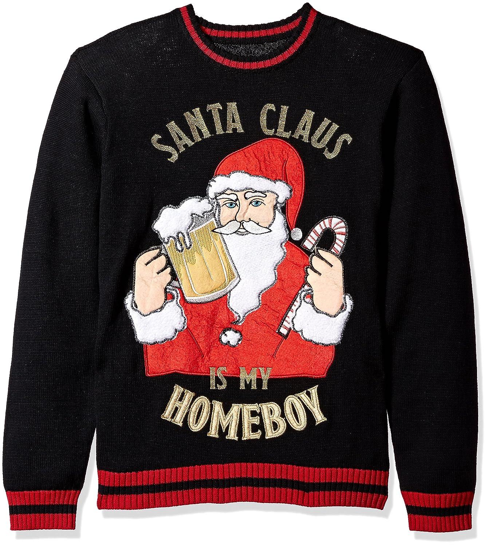 Blizzard Bay mens Santa Is My Homeboy Crew Neck Ugly Xmas Blizzard Bay Mens Apparel E67266