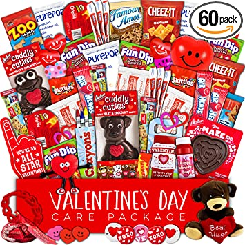 amazon com valentine s day care package 60ct snacks