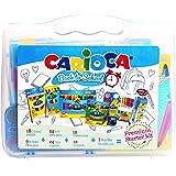 Carioca - Maletín para colorear Back to School, con 97 accesorios (43261)
