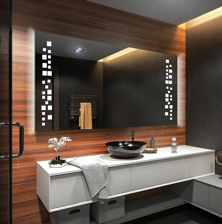 FORAM Design Badspiegel mit LED Beleuchtung Wandspiegel ...