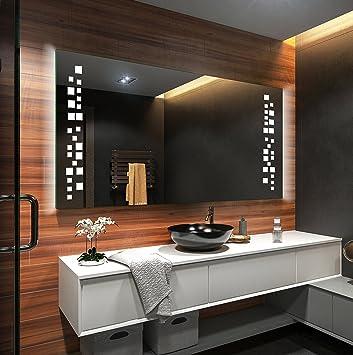 Badezimmerspiegel Mit Beleuchtung 100 Cm