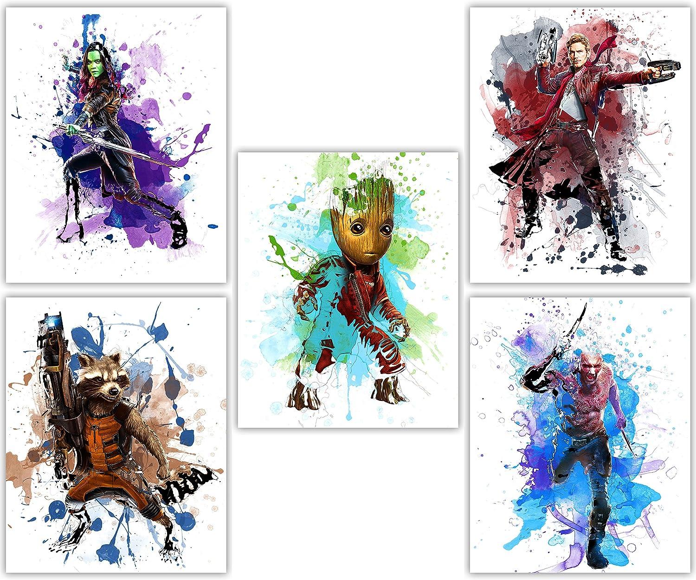 anime movie Guardians of the Galaxy Star Lord Baby Tree Man Gamora Drax the