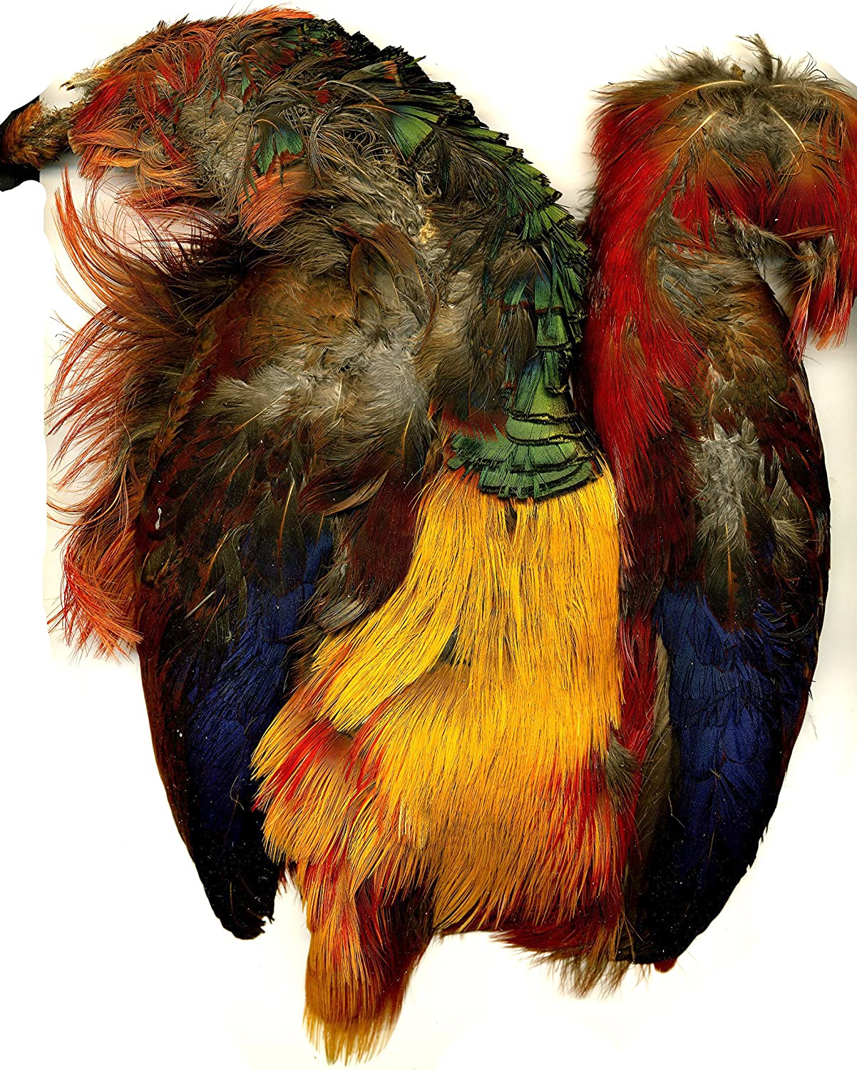 Fly Tying Feathers Crafting Golden Pheasant Body Skin Milliner,