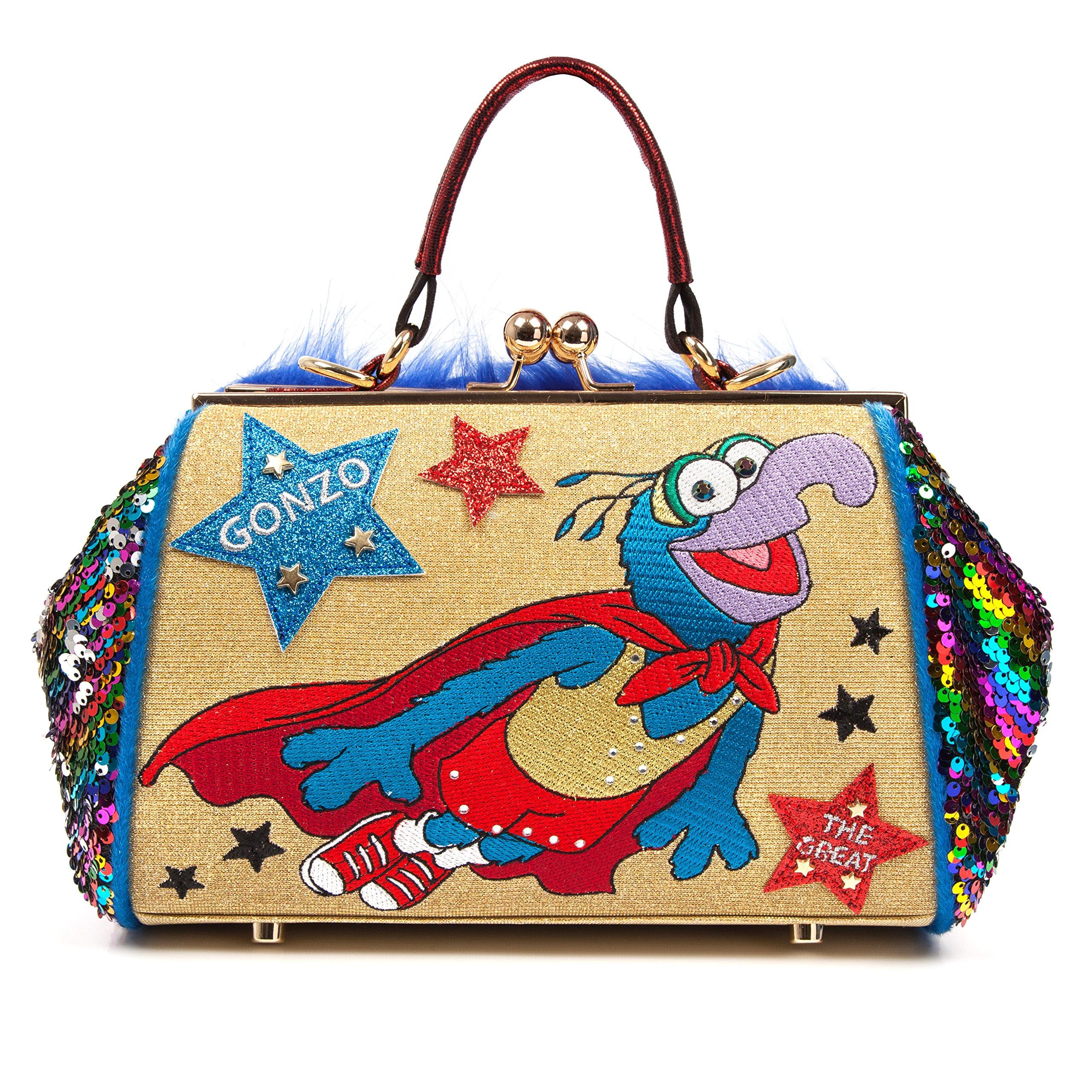 Irregular Choice Muppets Disney Gonzo Daredevil Bag Gold Satchel Multi New