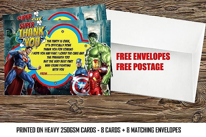 Cumpleaños tarjeta de agradecimiento/de los Vengadores Super ...