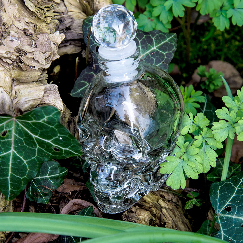 SET Skull- Flasche (125ml) mit 2 Totenkopfgläsern (60ml), für ...