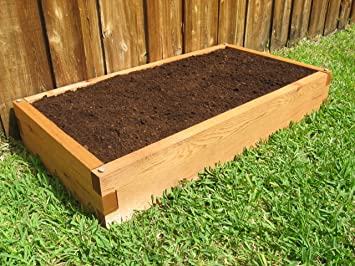 Amazoncom Cedar Raised Garden Bed 2x4 Plant Containers