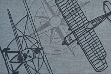 The Rug Market Outline Plane Area Rug 2 8 X 4 8 Grey Furniture Decor