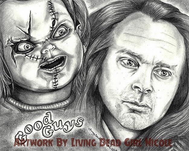 amazon com portrait drawing art print friends til the end brad