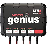 NOCO Genius GEN4, 4-Bank, 40-Amp (10-Amp Per Bank) Fully-Automatic Smart Marine Charger, 12V Onboard Battery Charger And Battery Maintainer