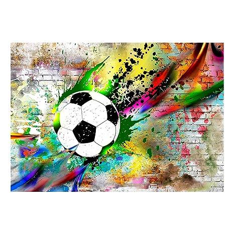 Decomonkey Fototapete Graffiti Fussball 300x210 Cm Xl Tapete Fototapeten Vlies Tapeten Vliestapete Wandtapete Moderne Wandbild Wand Schlafzimmer