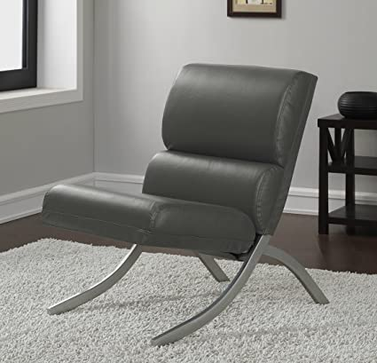 Superieur Amazon.com: Armless Bonded Leather Accent Chair Navy Blue Modern Furniture:  Kitchen U0026 Dining