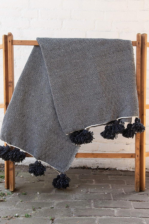 Pufs&Pillows - Manta de Lana y algodón, 1 x 2 m, Manta ...