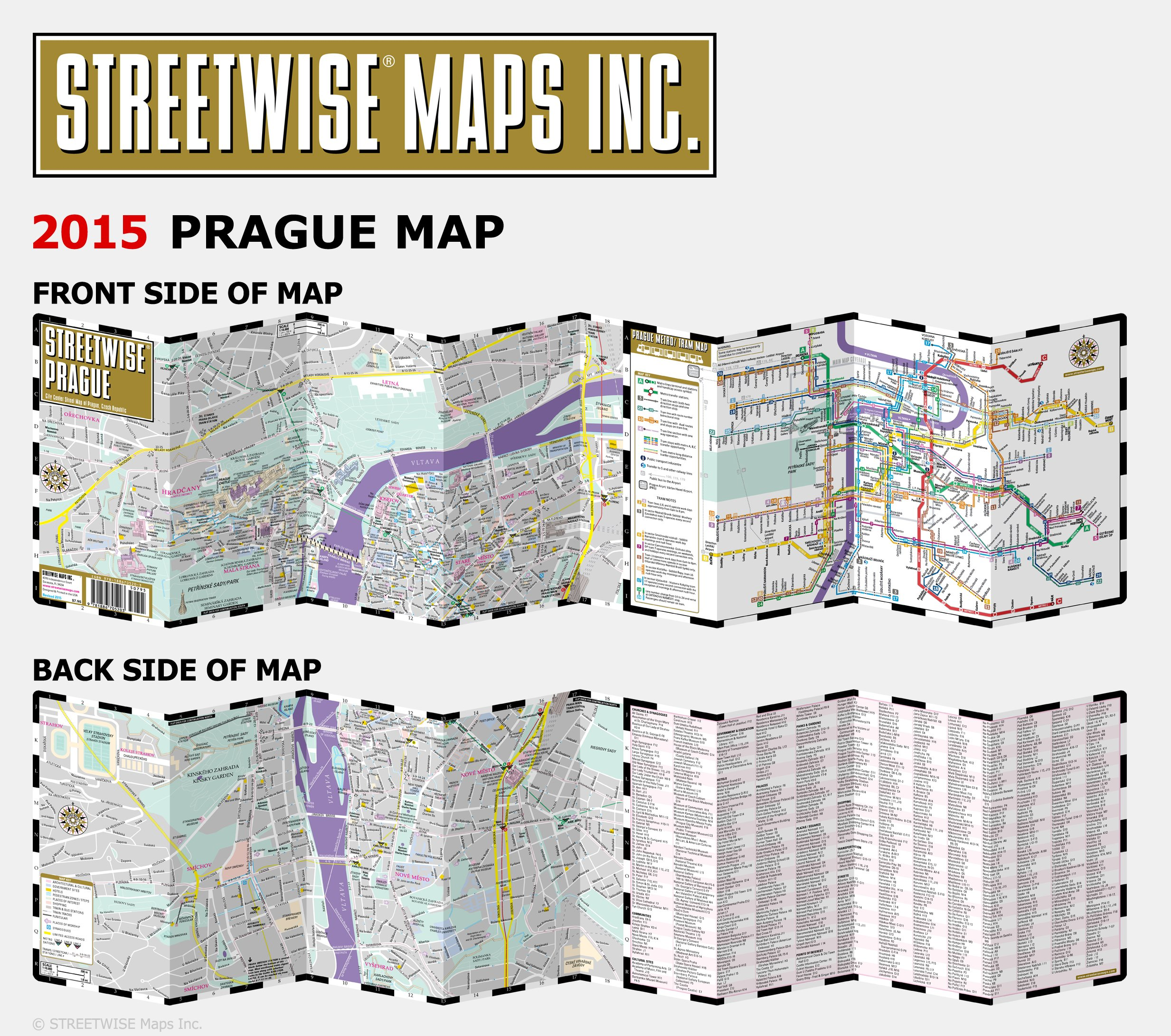 Streetwise Prague Map - Laminated City Center Street Map of Prague ...