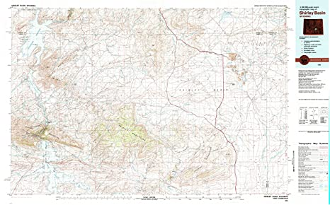 Amazon Com Yellowmaps Shirley Basin Wy Topo Map 1 100000 Scale