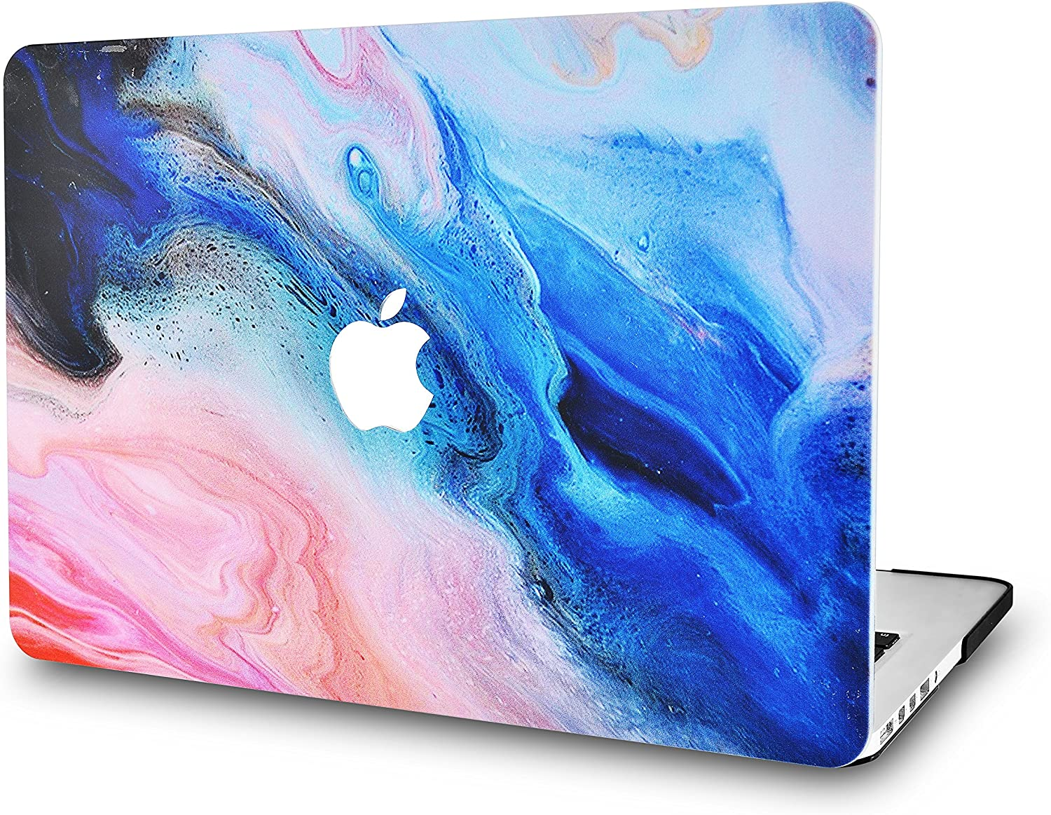 "LuvCase Laptop Case for MacBook Pro 13"" (2020/19/18/17/16 Release) with/Without Touch Bar A2251/A2289/A2159/A1989/A1706/A1708 Rubberized Plastic Hard Shell Cover (Oil Paint 4)"