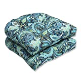 Pillow Perfect Outdoor Pretty Paisley Wicker Seat