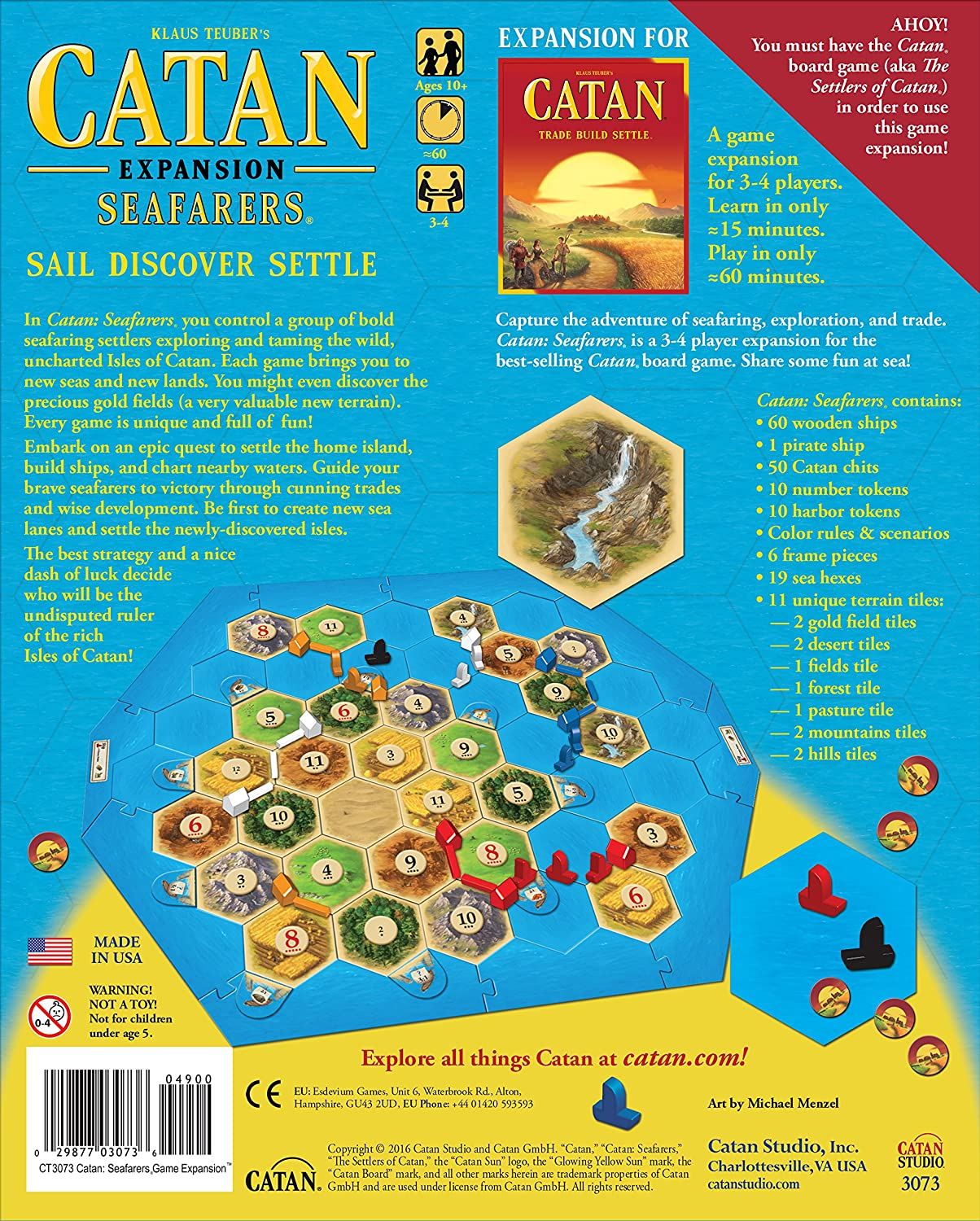 "5-6 Player Extension for the Seafarers Expansion Catan Board Game /""Settlers Of/"""
