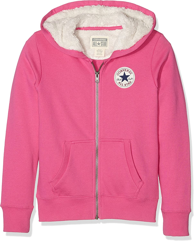 Converse Sherpa Lined Sweat Shirt à Capuche, Rose (Mod Pink